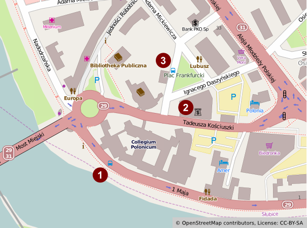Slubice map