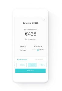 N26 app: Borrowing a credit