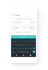 N26 app: Making a transfer with Transferwise