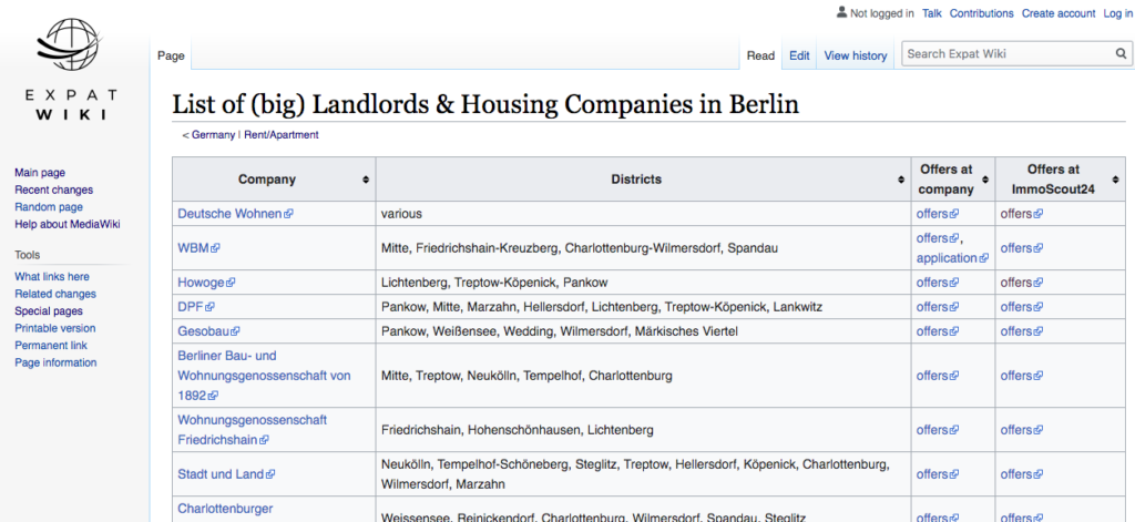 List of (big) landlords and housing companies in Berlin
