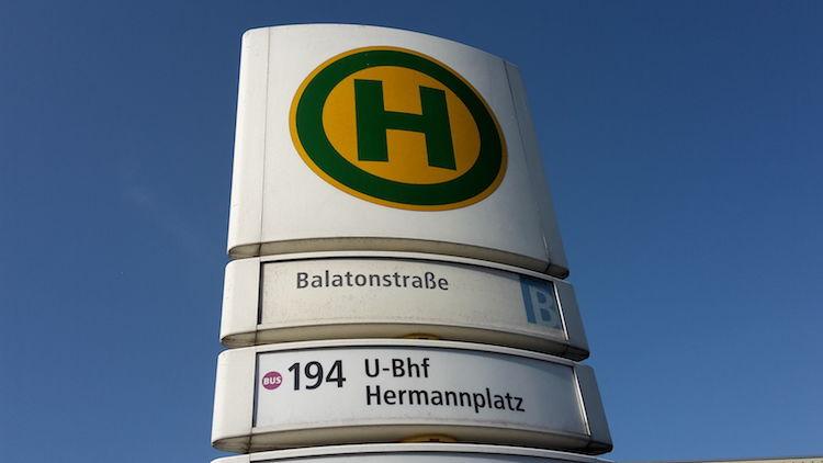 BVG Berlin Bus Stop