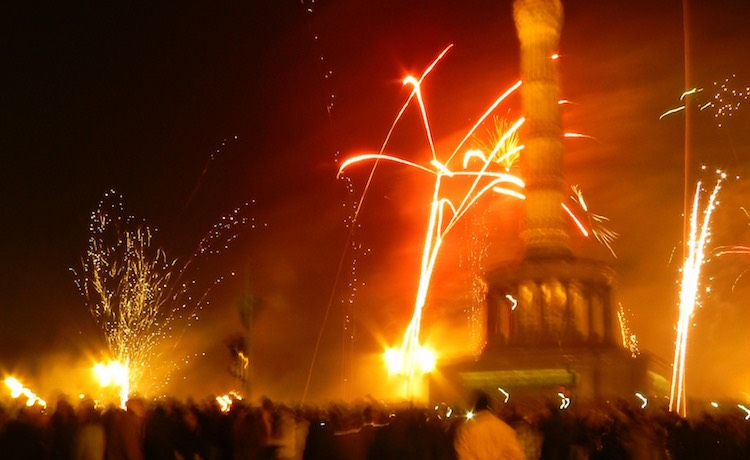 Fireworks at Victory Column
