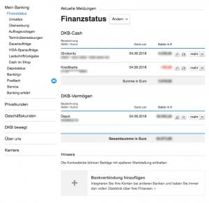 DKB Cash account: Overview