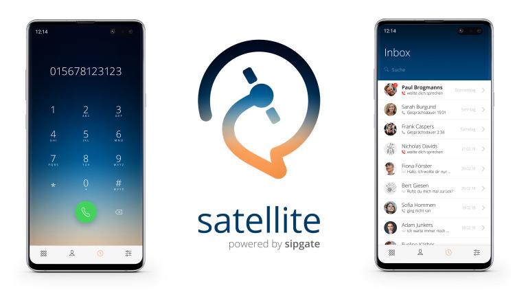Satellite: Screenshots of Login and Inbox